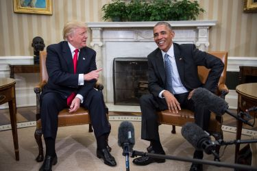 Republican presidential elect Donald Trump meets with