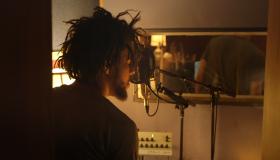 J. Cole in the studio