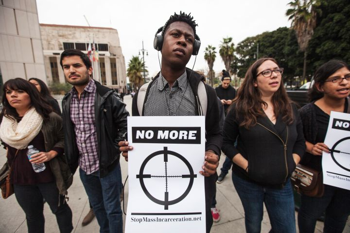 Police Protest in Los Angeles