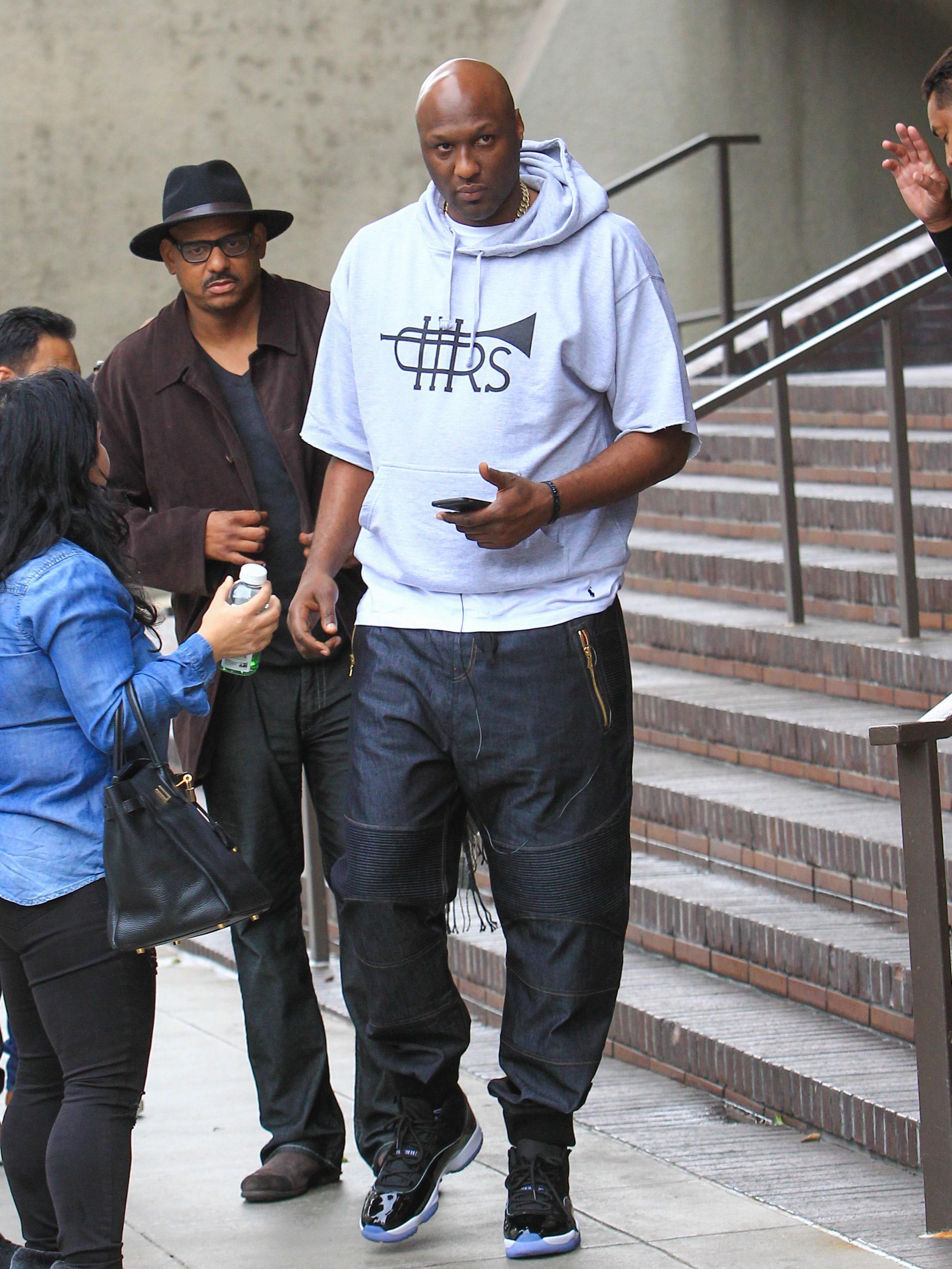 Lamar Odom Filming In L.A.