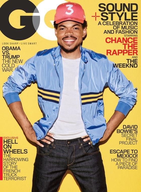chance the rapper, the weeknd gq february 2017