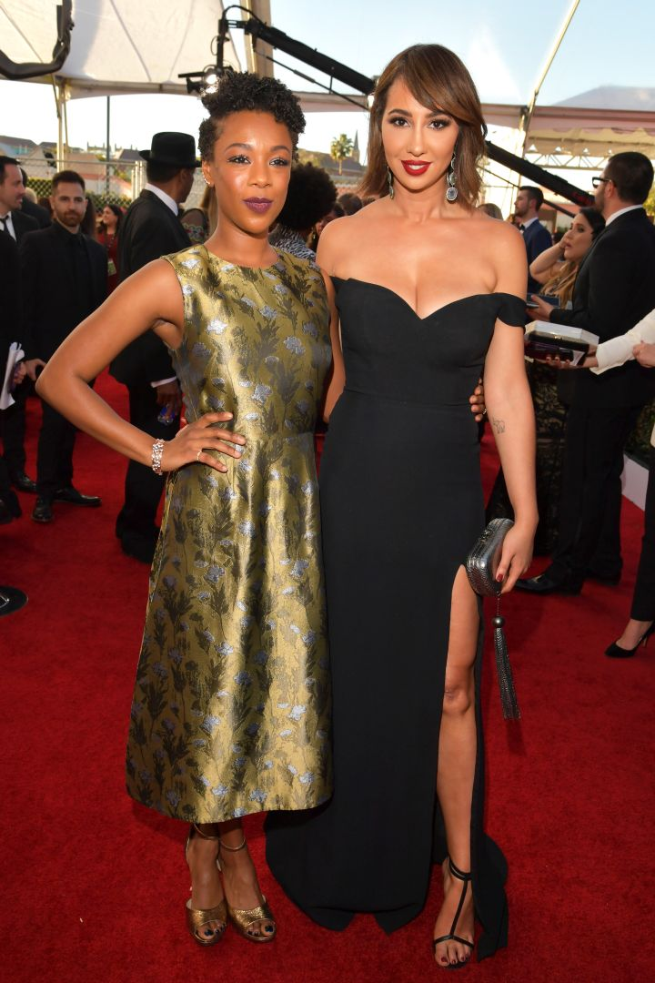 OITNB stars Samira Wiley and Jackie Cruz glowed while walking the carpet.