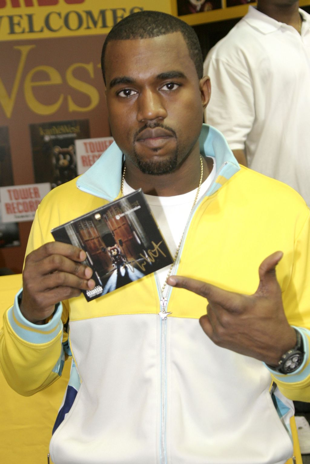 Kanye West Signs His Album Late Registration at Tower Records in New York City - August 30, 2005