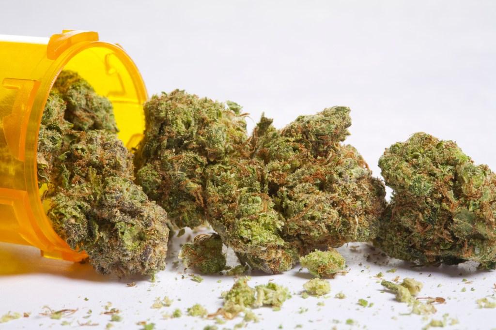 Medical marijuana and pill bottle