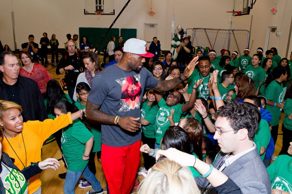 LeBron James And Sprite Unveil Refurbished Gym At Harvard Boys & Girls Club In Houston