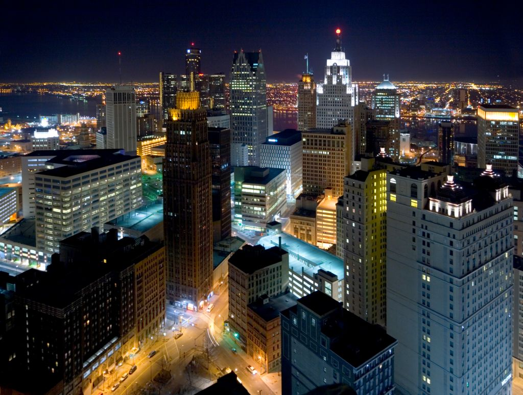 View of Detroit from Book Tower
