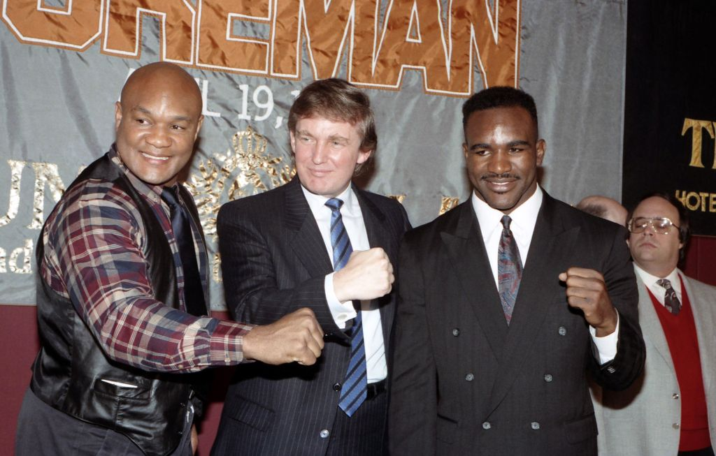 George Foreman and Evander Holyfield press conference