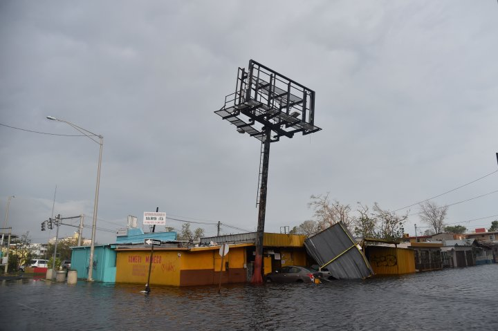 San Juan, PR: Flooded streets devastate the island.