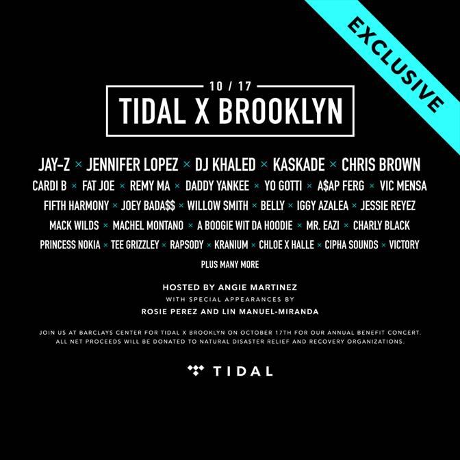 TIDAL X concert 2017