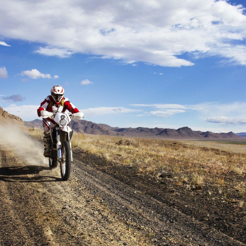 Man Riding Motocross Bike