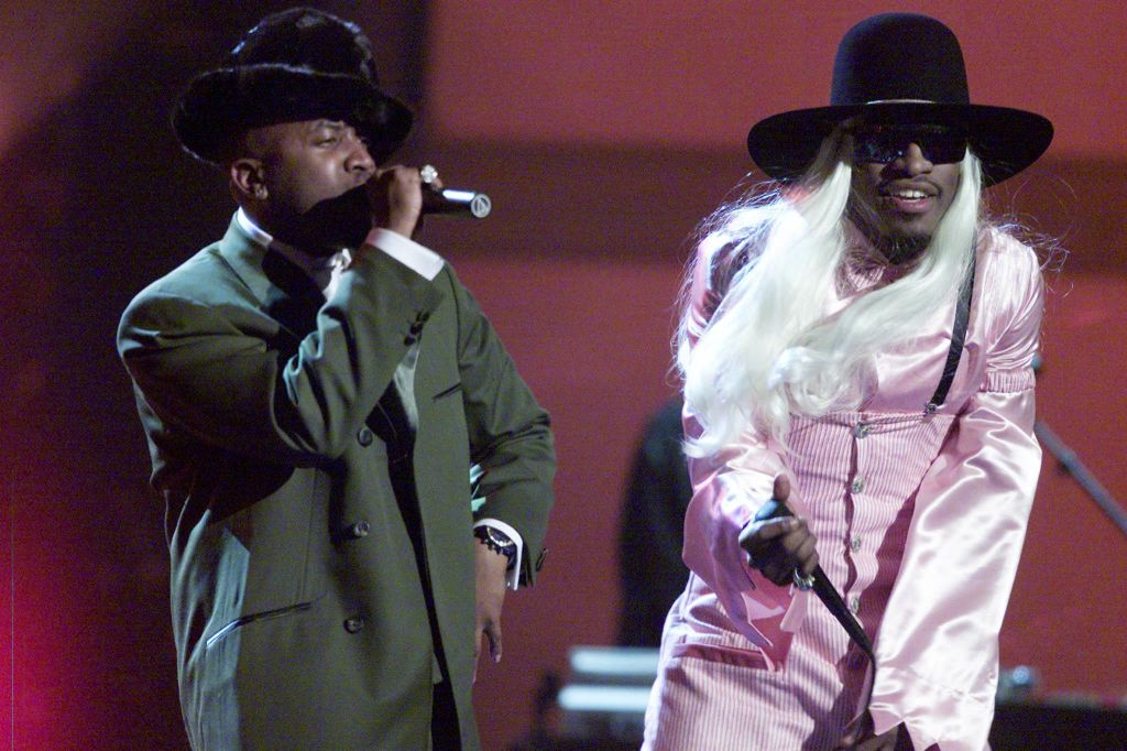 Rap group OutKast perform at the 44th Annual Gramm