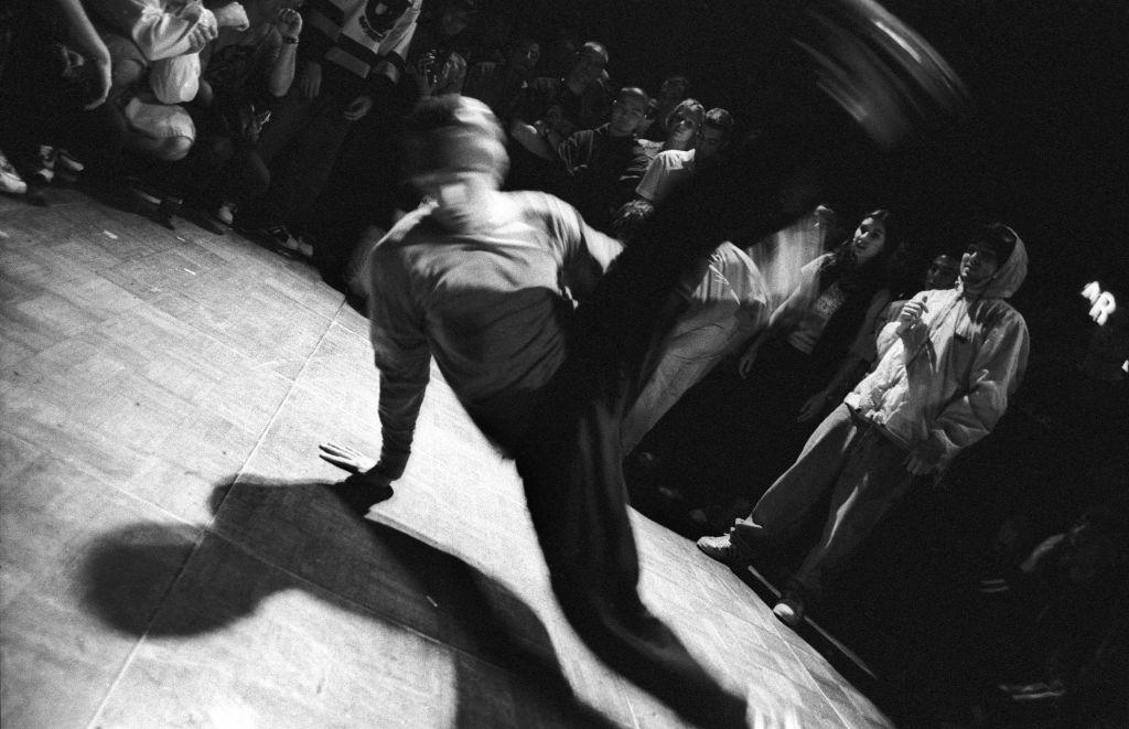 Break-dancer performing, Sydney Australia,