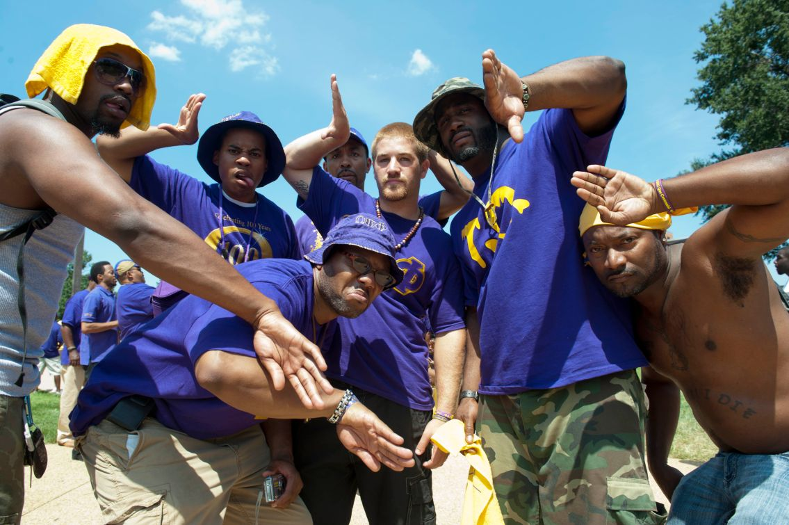Thousands of Omega Psi Phi fraternity brothers attend the Family Festival at Howard University.
