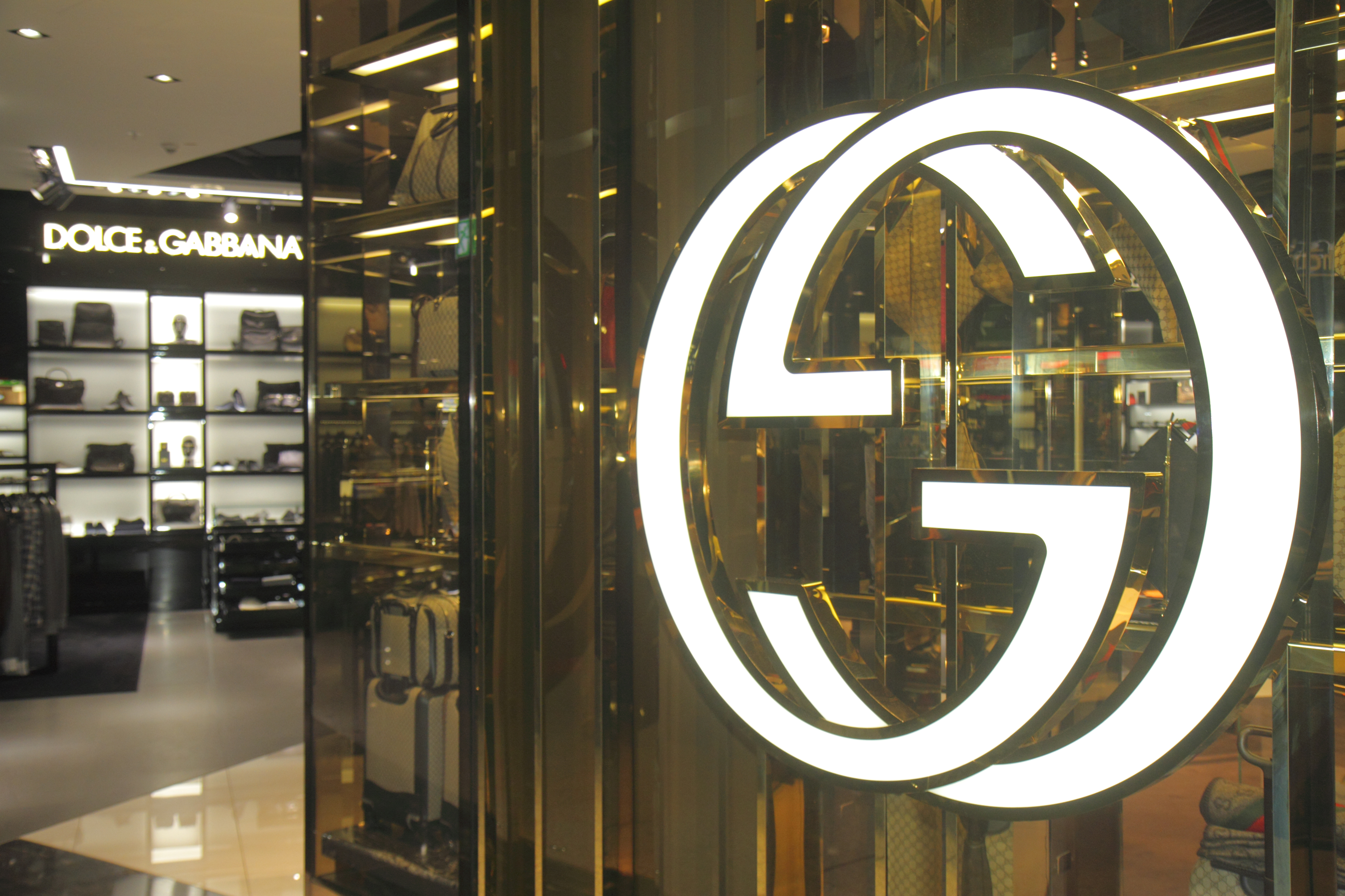 The entrance to Gucci at Frankfurt am Main Airport.