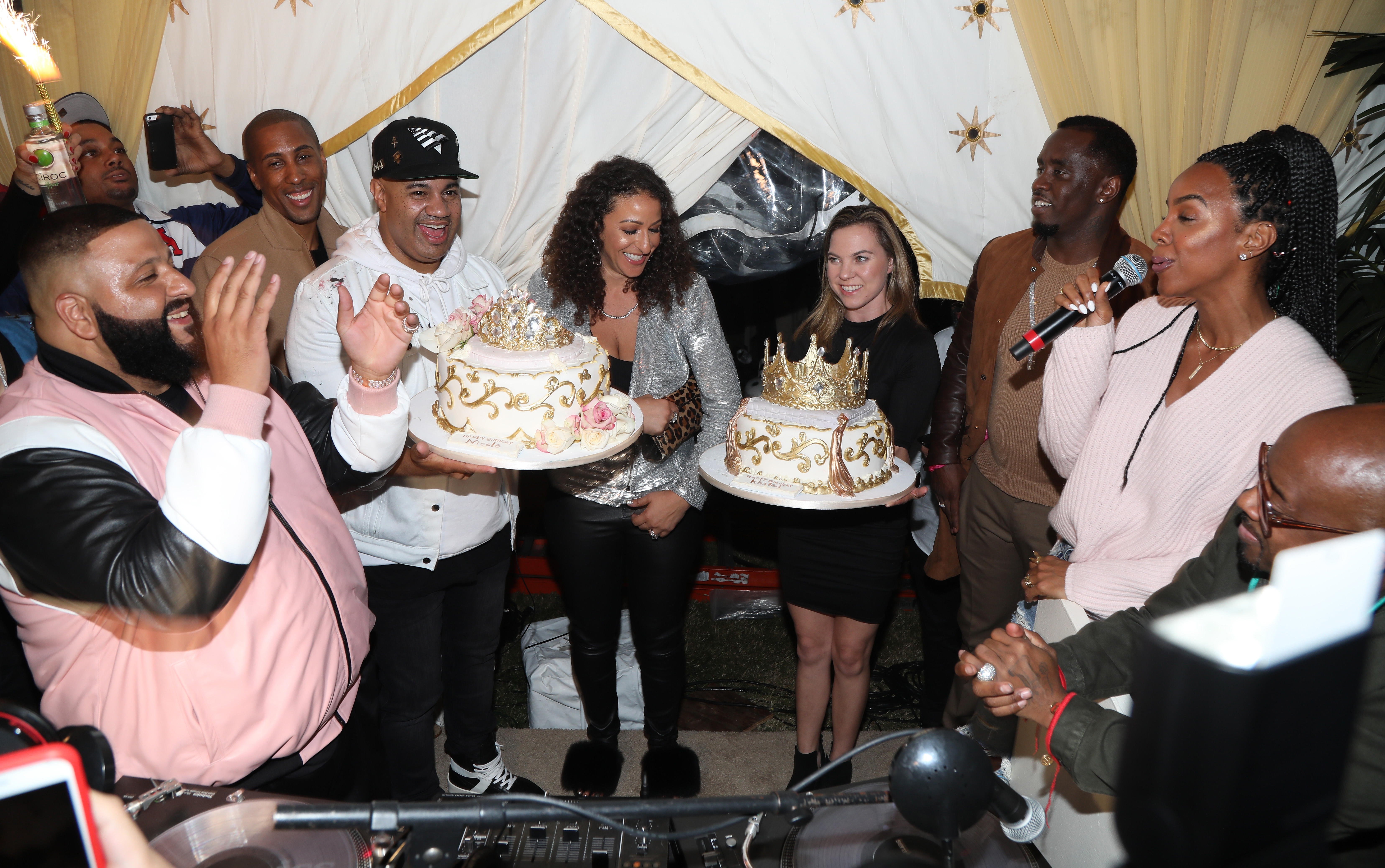 The Four Cast Sean 'Diddy' Combs, Fergie and Meghan Trainor Host DJ Khaled's Birthday Presented by CIROC and Fox in Beverly Hills
