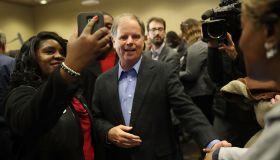 Democratic Senate Candidate Doug Jones Holds Campaign With Sen. Cory Booker At Alabama State University