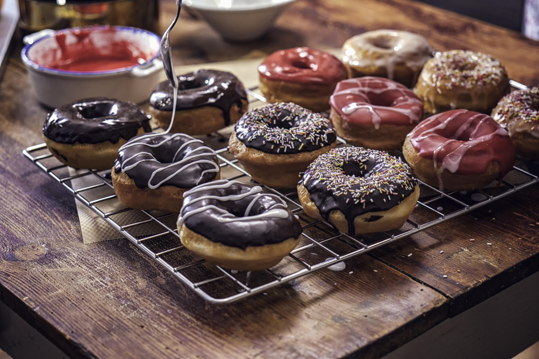 Preparing Homemade Donuts