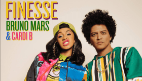 """Bruno Mars & Cardi B """"Finesse"""" cover art"""
