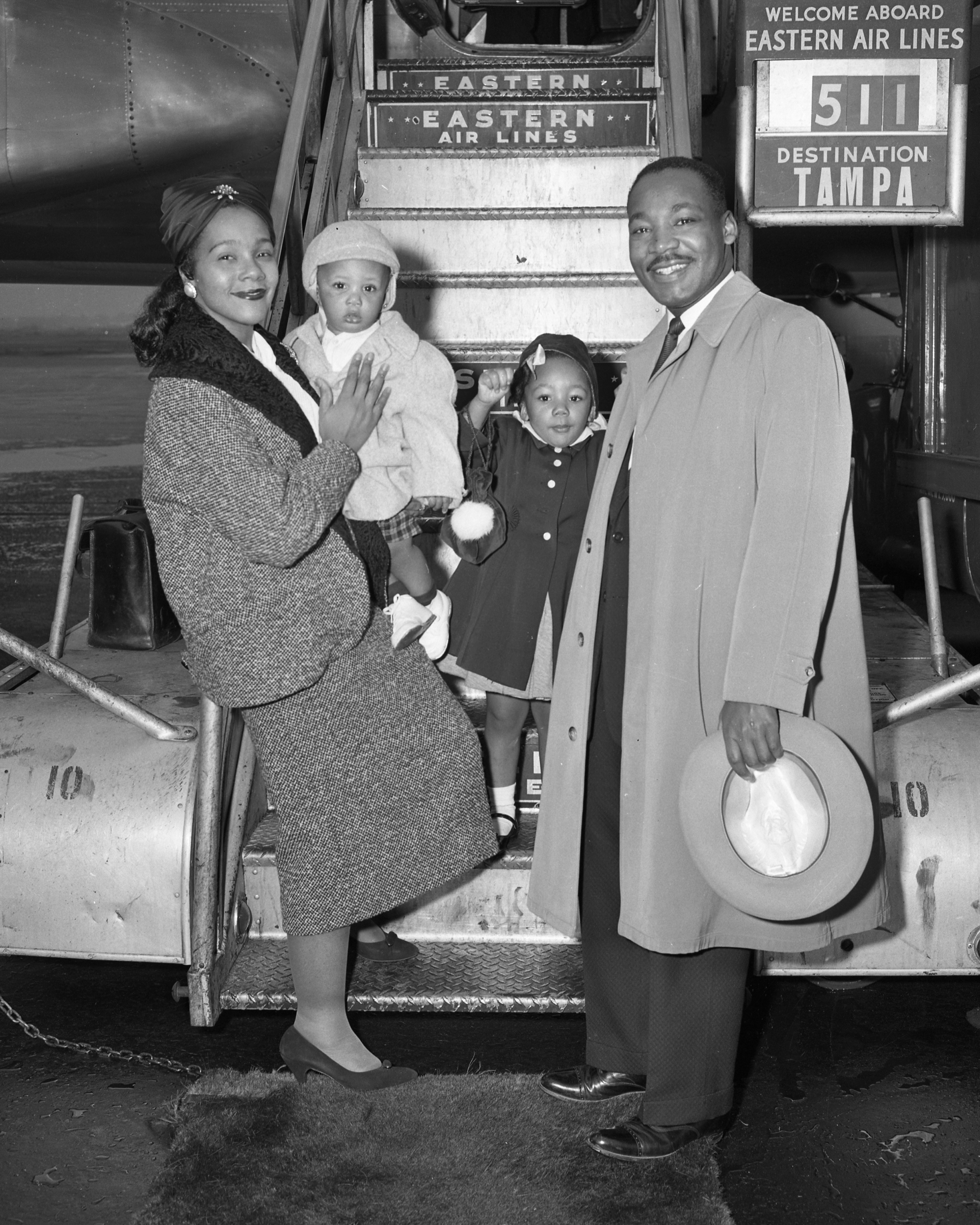 Reverend Martin Luther King Jr. and family