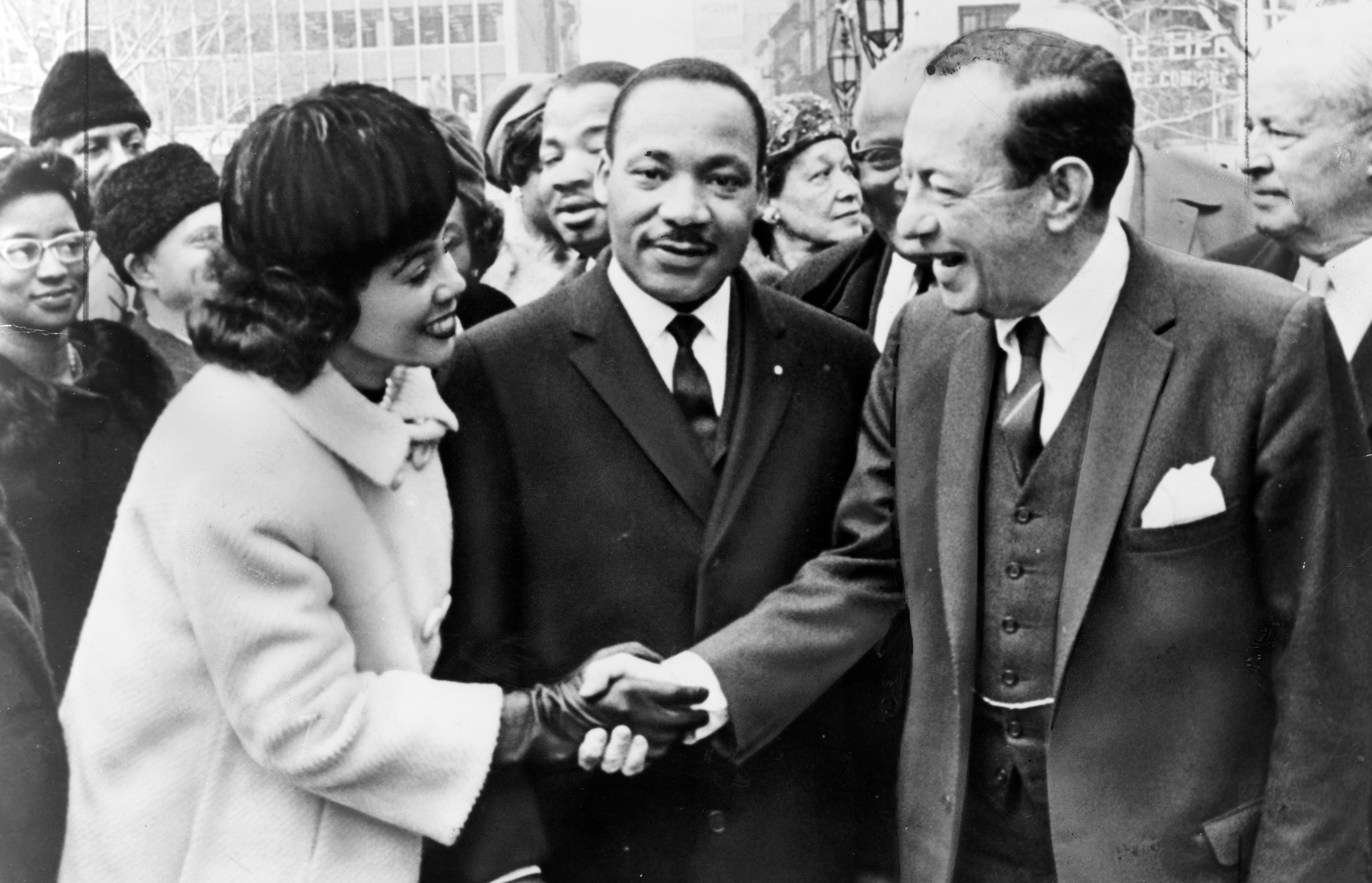 Mayor Wagner of New York greets Dr. and Mrs. Luther King, Jr. at City Hall. Robert Ferdinand Wagner II.