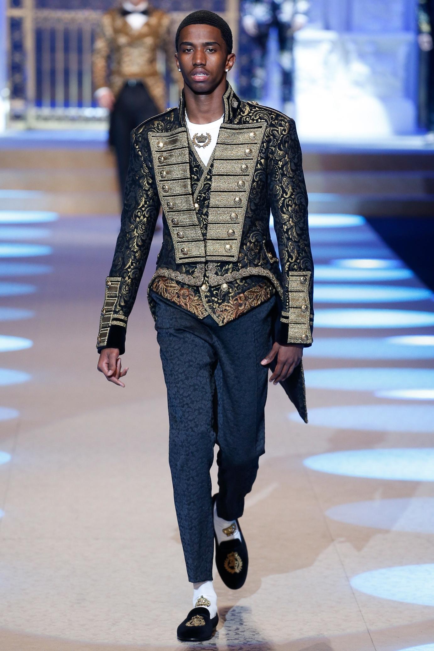 Christian Combs walks D&G Runway - Milan