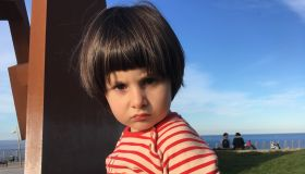 Little girl in angry