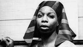 Singer Nina Simone Dressed in 'Pharaoh' Style