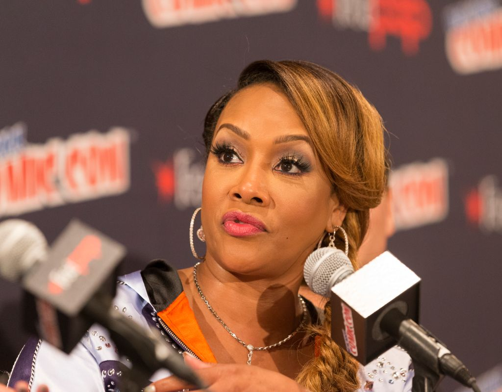 Vivica Fox attends Panel Explosion Jones during 2017 New...