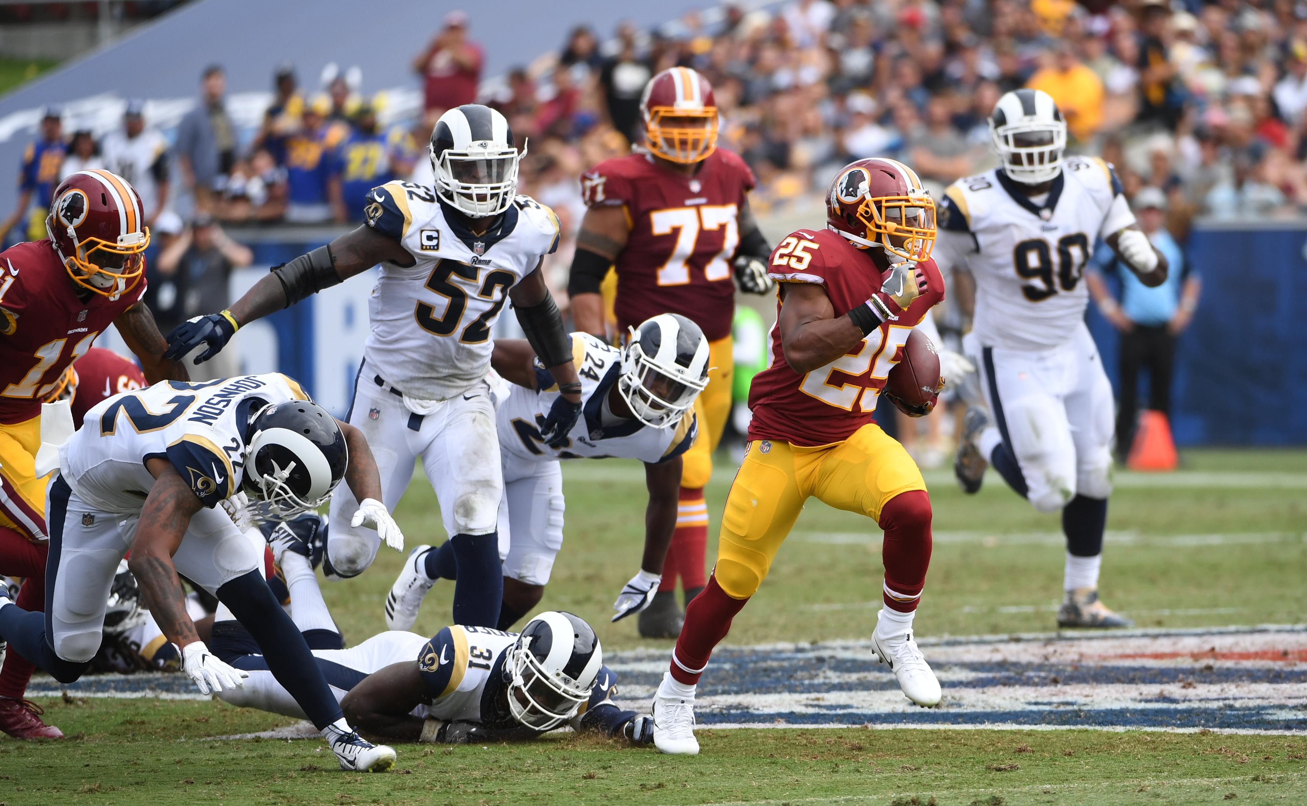 NFL-Washington Washington Football Team at Los Angeles Rams
