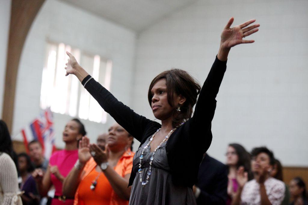USA: Religion: Worshipers at Revival Church
