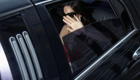 Celebrity in a limousine