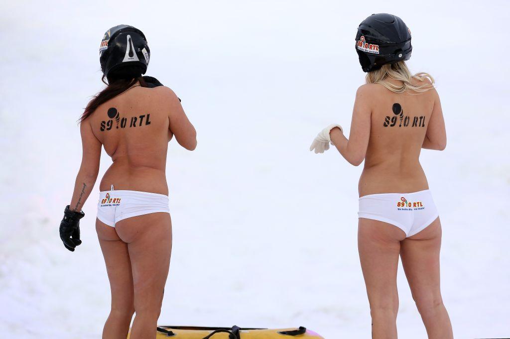 Naked Sledding World Championships 2014