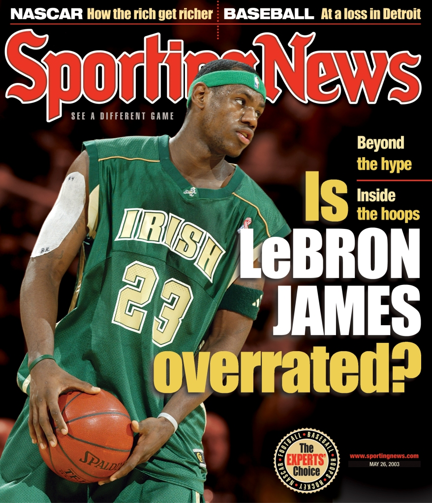 NBA Covers - St. Vincent - St. Mary High School Fighting Irish's LeBron James - May 26, 2003