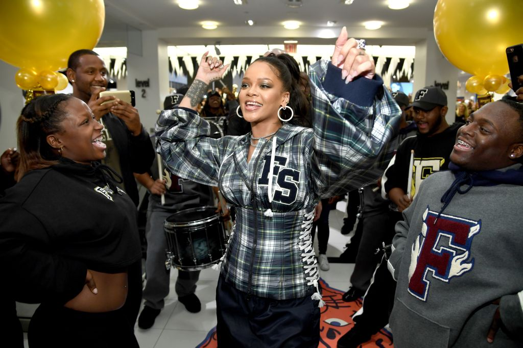 Rihanna Hosts Pep Rally To Celebrate Launch Of The AW17 FENTY PUMA By Rihanna Collection At Bloomingdales On 59th Street