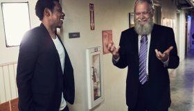 Jay-Z with David Letterman 2