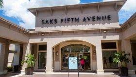 The entrance to Saks Fifth Avenue at Bell Tower Shops.