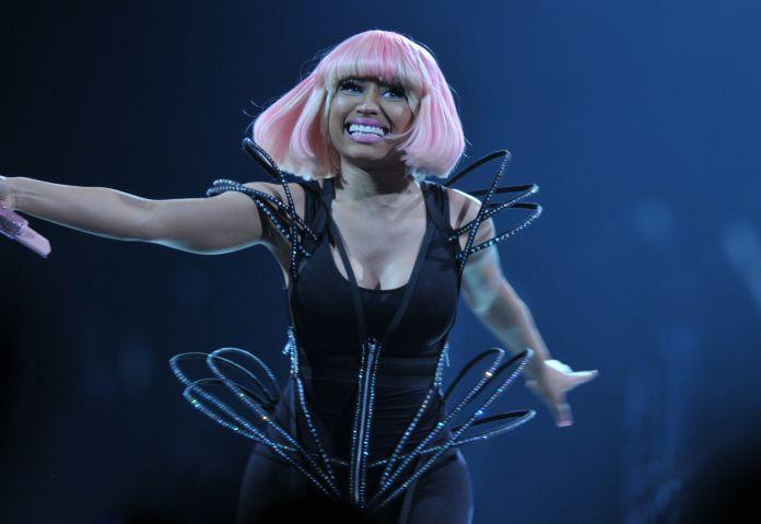 Nicki Minaj dancing and performing on stage in Washington DC
