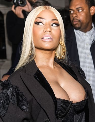 Nicki Minaj spotted at the Marc Jacobs fashion show in New York City