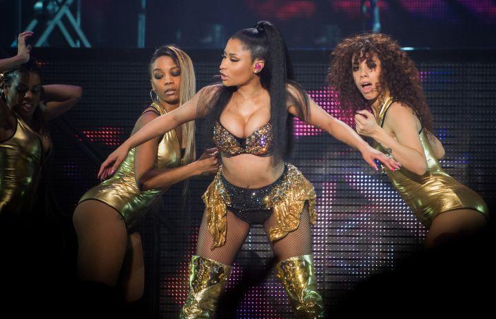 Nicki Minaj performs live at the Barclaycard Arena on the European leg of 'The Pinkprint Tour'