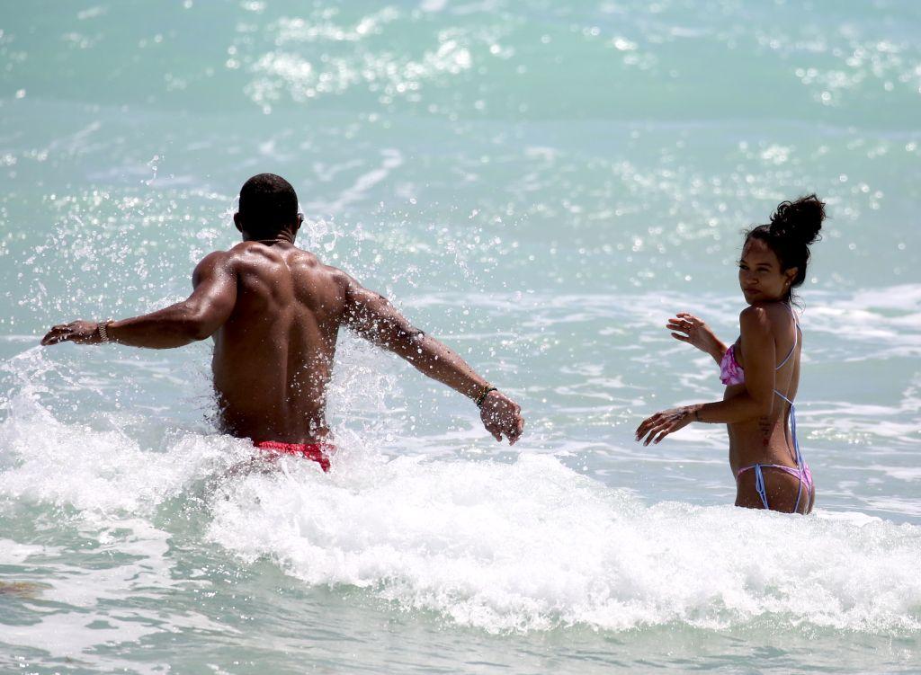 Karrueche & Victor Cruz at Miami Beach