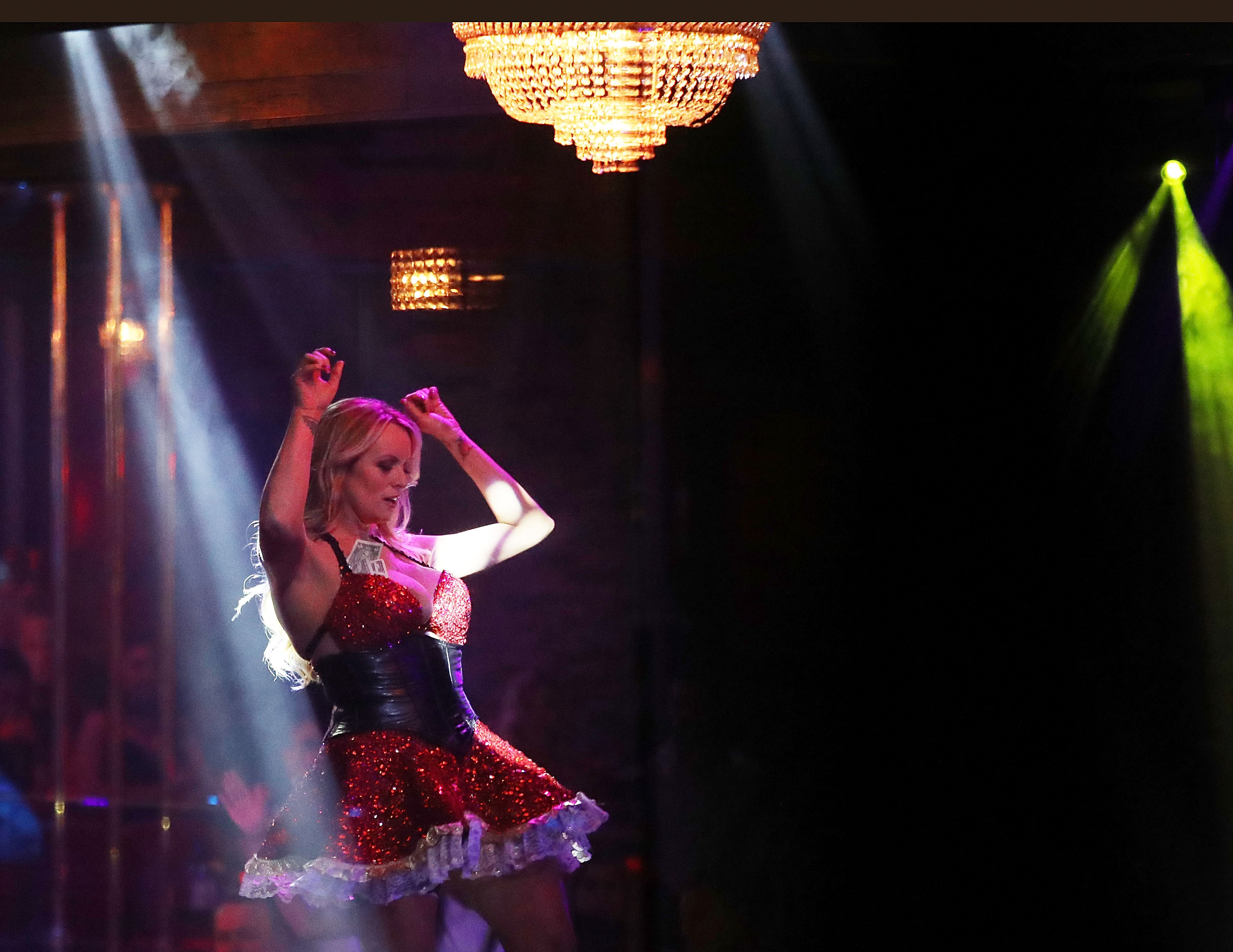 Pornographic Film Star Stormy Daniels, Who Alleges Affair With President Trump, Appears At Florida Strip Club