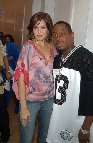 Martin Lawrence, Mandy Moore and Stacie Orrico Visit 'Backstage Pass' Week on MTV's 'TRL' - July 17, 2003