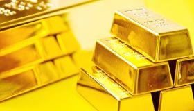 Close-Up Of Gold Ingots