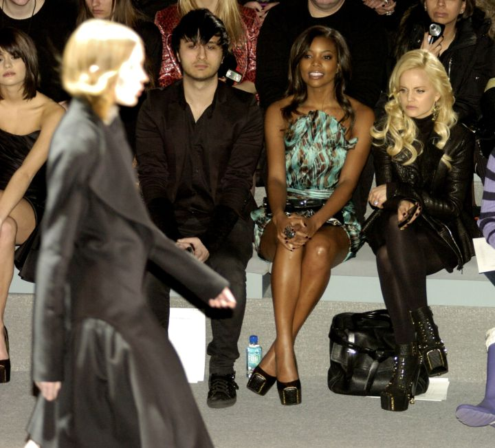 Front row at Fashion Week back in 2011.