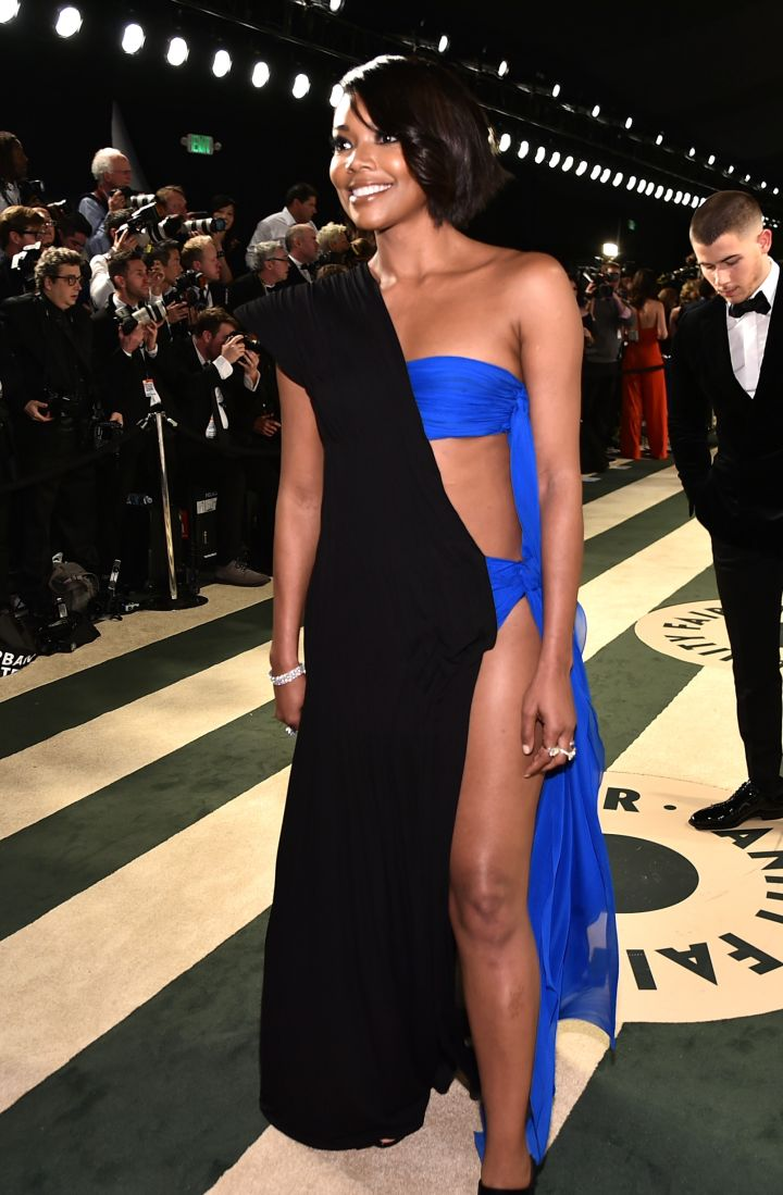 Gabby flaunts what her mama gave her at the 2017 Vanity Fair Oscar Party