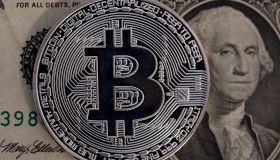 Digital Cryptocurrency Bitcoin : Illustration