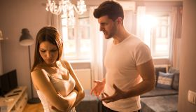 Young couple have argument at home