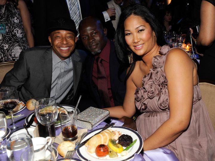 Kimora Lee Simmons, Russell Simmons & Djimon Honsou