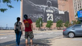 LeBron James Banner Removed From Outside Cleveland Cavaliers' Arena