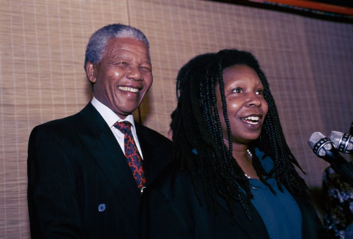 Nelson with his dear friend Whoopi Goldberg back in the day.
